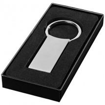 Rechthoekige sleutelhanger - zilver