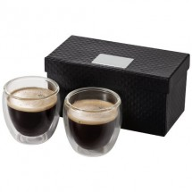 Boda 2 delige espressoset - transparant