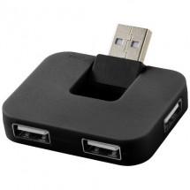 Gaia 4 poorts USB hub - zwart