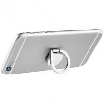 Aluminium ringhouder voor telefoon Zilver