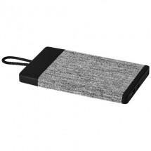 Weave stoffen powerbank 4000 mAh - Zwart