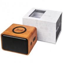 Houten speaker met draadloos oplaadstation - Hout