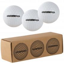 3 delige golfbalset - wit