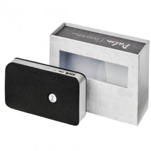 Palm Bluetooth® speaker met draadloze powerbank - Zwart