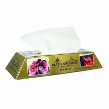 Tissue box goudstaaf - wit