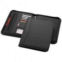 Ebony A4 portfolio met ritssluiting - zwart