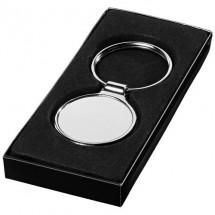 Ronde sleutelhanger - zilver