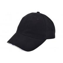 Heavy Brushed Cap met Ledverlichting Zwart acc. Wit