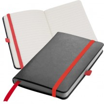 Notitieboekje met 160 vel gelinieerde paginas - rood
