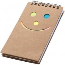 Notitieboekje met een smile - bruin