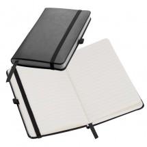 Notitieboekje met 160 vel gelinieerde paginas - zwart