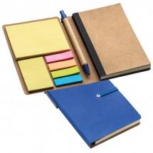 Notitieboekje met memoplakkers - blauw