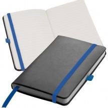 Notitieboekje met 160 vel gelinieerde paginas - blauw