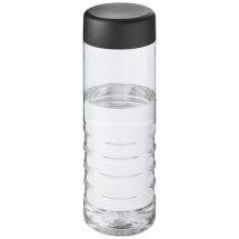 H2O Treble 750 ml sporfles - Transparant/Zwart