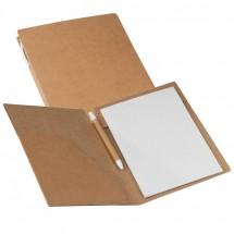 Schrijfmap van milieuvriendelijk karton - bruin
