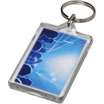 Luken heropenbare sleutelhanger met metalen clip - Transparant