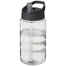 H2O Bop 500 ml sportfles met tuitdeksel - Transparant/Zwart