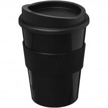 Americano® medio 300 ml beker met grip - Zwart