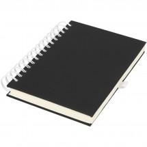 Wiro notitieboek met kleurige spiraalrug - Zwart,Wit