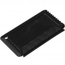 Freeze ijskrabber met rubber in creditcardformaat - Zwart