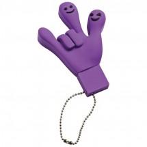 USB Stick 8GB en Smile Hand - paars
