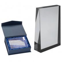 Stijlvolle glazen trofee - transparant