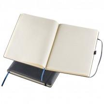 A4 notitieboek met gelinieerd papier en elastiek - zwart