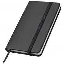 Notitieboekje met  elastisch bandje - zwart
