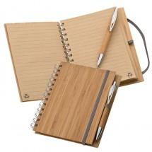 Blocknote A5 van bamboe - bruin