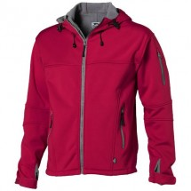 Match heren softshell jack - Rood