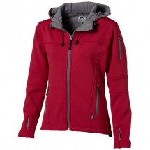 Match dames softshell jack - Rood