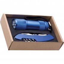 Zaklamp en zakmes-set Dover-blauw