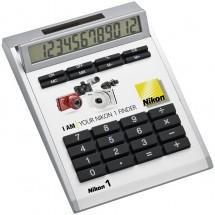 Calculator Own Design met inlegplaatje zonder gaatjes, klein - wit