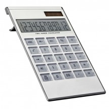 12-digit dual power calculator - wit