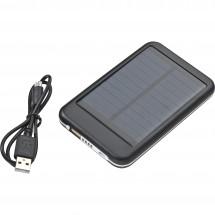 Solar metalen powerbank - zwart