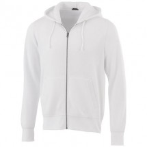 Cypress unisex sweater met capuchon en volledige rits - Wit