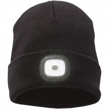 Mighty LED knit beanie, Black Zwart