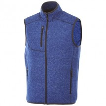 Fontaine heren gebreide bodywarmer - HEATHER BLUE