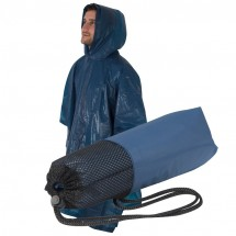 Regenponcho - donkerblauw