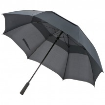 Golfparaplu met windvanger - zwart