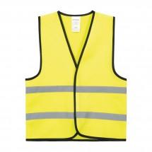 Kinder veiligheidsvest polyester - geel