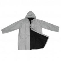 Omkeerbare regenjas - zwart / zilver