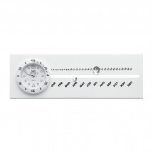 Klokje met kalender LOLLICLOCK-CALENDAR WHITE