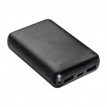 Powerbank REFLECTS-MANISA BLACK 10000 mAh - zwart