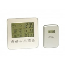 Dig.Thermometer w/sensor In&Out,silver