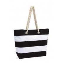 Beach bag Sylt 300D, black/white