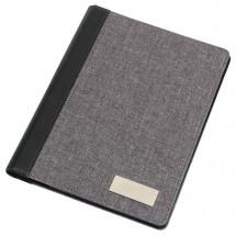 A4 Portfolio LINEN, blck./grey