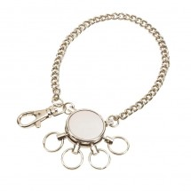 Keyholder Chain , silver, 4 rings