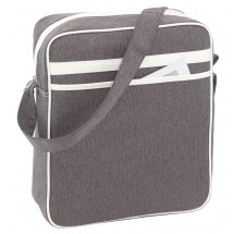 Shoulder bag Vintage, grey/white