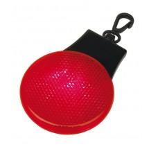 round blinking light,red